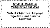 Engage NY 3rd Grade, Module 4 Content & Language Objective