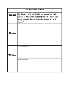 Engage NY 3rd Grade Unit 2 Application Problems in RDW Format