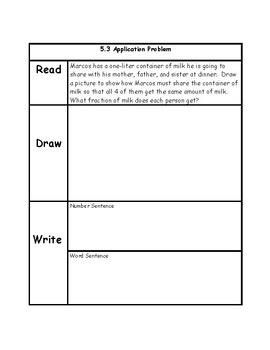 Engage NY 3rd Grade Unit 5 Application Problems in RDW Format