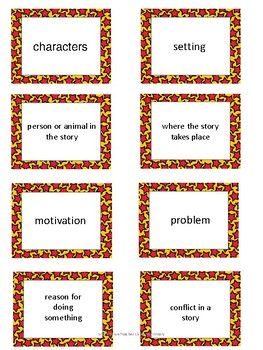 Engage NY 3rd grade Module 1 Unit 1 Vocabulary Cards