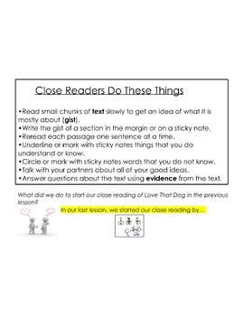 Engage NY 4th Grade ELA Module 1B Unit 1 Lesson 3: Practicing Reading Closely