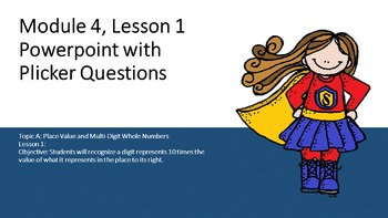 Engage NY 4th Grade Math Module 1 Topic A Lesson 1 ppt wit