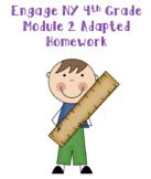 Engage NY 4th Grade Module 2 Adapted Homework