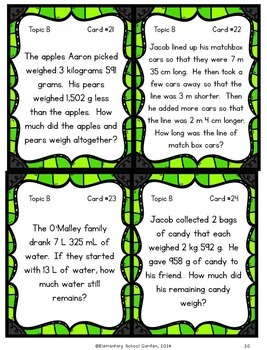 Engage NY 4th Grade Module 2 Review Mini Pack - Metric Measurement