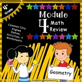Engage NY 4th Grade Module 4 Review Pack - Angle Measure & Plane Figures