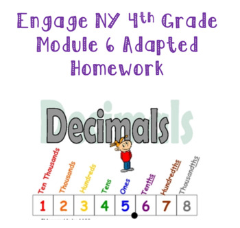 Engage NY 4th Grade Module 6 Adapted Homework