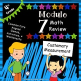 Engage NY 4th Grade Module 7 Review Pack - Customary Measurement