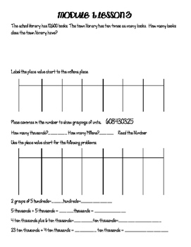 Engage NY 4th Grade Module Student Guided Notes Lessons 1-19