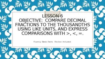 Engage NY  5.1 Lesson 6