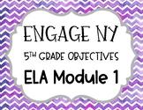 Engage NY 5th Grade ELA Learning Targets- Module 1