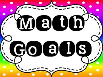 "5th Grade EngageNY/Eureka Math - Module 1 Learning Goals - ""I Can"" Statements"