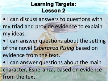 Engage NY 5th Grade Module 1, Unit 2 Learning Targets