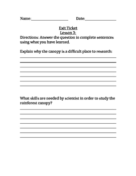 Engage NY 5th Grade Module 2a, Unit 2 Exit Tickets