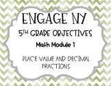 Engage NY 5th Grade Objectives- Math Module 1