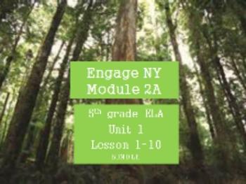 Engage NY 5th grade ELA Module 2A Unit 1 Bundle