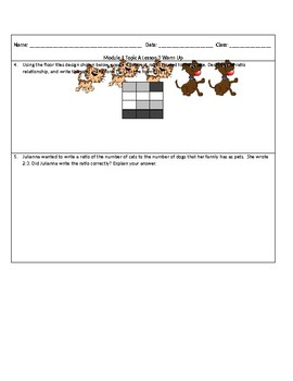 Engage NY 6th Grade Math Module 1 Topic A Lessons 1-4 Warm-Ups