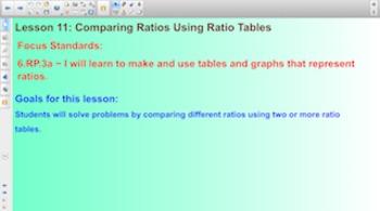 Engage NY Eureka Math 6th Grade Math Module 1 Topic B for Smartboards
