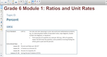 Engage NY Eureka Math 6th Grade Math Module 1 Topic D for Smartboards