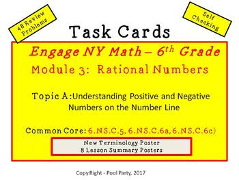 Engage NY 6th Grade Math - Module 3, Topic A Task Cards