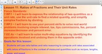 Engage NY Eureka Math 7th Grade Math Module 1 Topic C for Smartboards