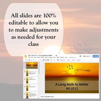 Engage NY 7th grade ELA Module 1 BUNDLE {Units 1, 2 and 3} Google Slides