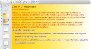Engage NY Eureka Math 8th Grade Math Module 1 Topic B for Smartboards