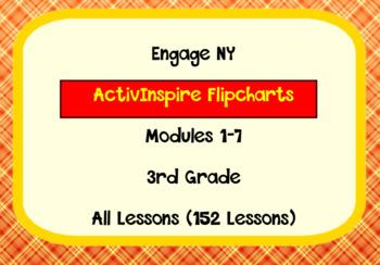 Engage NY ActivInspire FlipCharts Module 1-7 (152 Lessions)