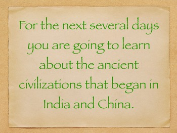 Engage NY Ancient Asian Civilization Day 1
