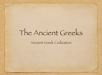 Engage NY Ancient Greek Civilizations Day 1