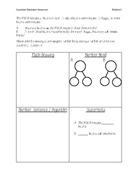 Engage NY Application Problem Journal - Grade 2 Module 5