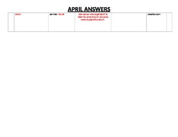 Eureka Math/Engage NY April Homework Calendar (Grade 4 Module 6)