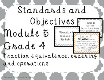 Engage NY Common Core Fractions Objectives Posters