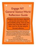 Eureka Math/Engage NY Daily Station Guide and Reflection Sheet