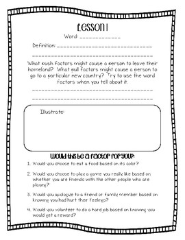 Engage NY Domain 11 : Immigration Word Work - Second Grade