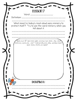 Engage NY Domain 8 : Insects Word Work - Second Grade