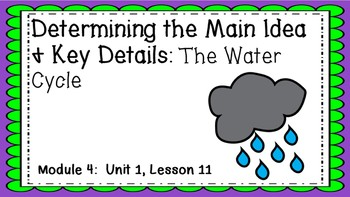 Engage NY EL 3rd grade Module 4:  U1 Lesson 11 PowerPoint