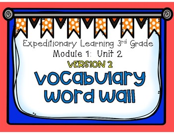 Engage NY Expeditionary Learning Edition 2 Module 1: Unit 2 Vocabulary Word Wall