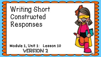 Engage NY Expeditionary Learning M1U1 Lesson 10 PowerPoint Version 2