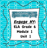 EngageNY ELA 6 Module 1 Unit 1 {Editable} Handouts (The Li