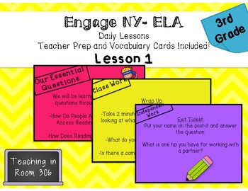 Engage NY- ELA Grade 3, Lesson 1, Module 1