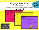 Engage NY- ELA Grade 3, Lesson 1, Module 1