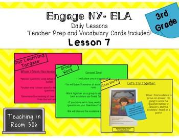 Engage NY ELA: Grade 3, Module 1, Unit 1, Lesson 7