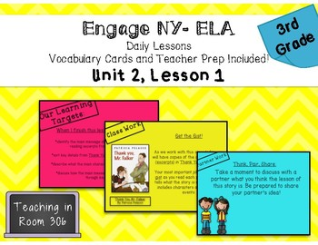 Engage NY ELA, Grade 3, Module 1, Unit 2, Lesson 1