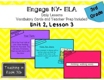 Engage NY ELA: Grade 3, Module 1, Unit 2, Lesson 3