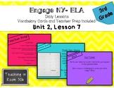 Engage NY ELA, Grade 3, Module 1, Unit 2, Lesson 7