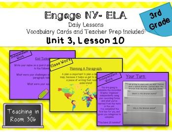 Engage NY ELA, Grade 3, Module 1, Unit 3, Lesson 10