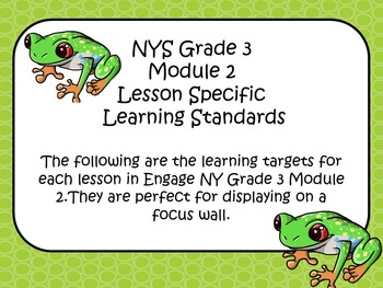 Engage NY ELA Grade 3 Module 2 Standards