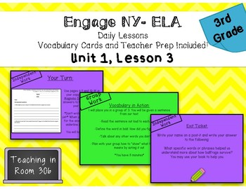 Engage NY ELA, Grade 3, Module 2a, Unit 1, Lesson 3