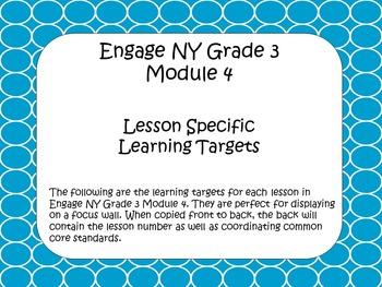 Engage NY ELA Grade 3 Module 4 Standards