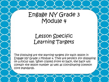 Engage NY ELA Grade 3 Module 4 Standards
